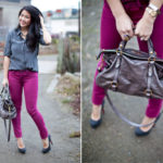 Lookbook: The quest for pink jeans