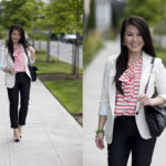 Lookbook: Striped Bow and Cap Toes