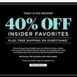 Madewell 40% off – ends tonight!