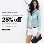 Madewell and J Crew 25% off