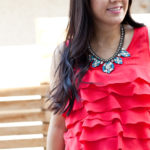 Maternity Style Lookbook: Statement Necklace + Ruffles