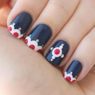 Navy Nails And Nail Art