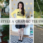 4 ways to style a graphic tee/sweatshirt