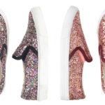Look for less: Glitter Slip On Sneakers