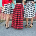 Lookbook: t+j Designs Check Skirts