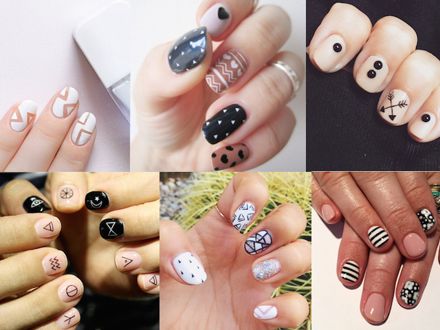 Graphic nail art inspiration prinsesfo Choice Image