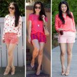 Lookbook: Shorts + Blouses 3 ways