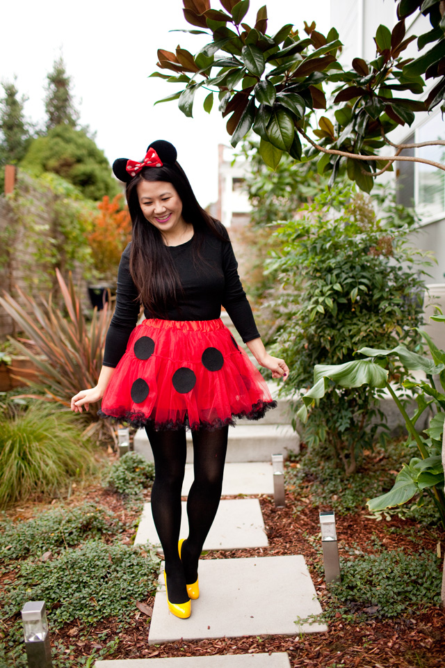 how to make a homemade minnie mouse costume