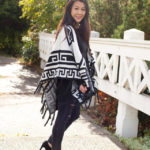 Lookbook: Black and White Poncho