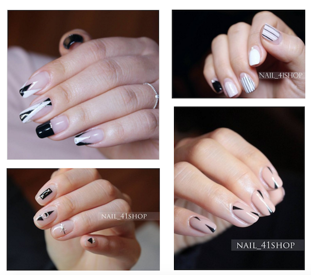 Graphic Linear Nail Art Inspiration