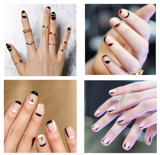 Graphic linear nail art inspiration prinsesfo Image collections