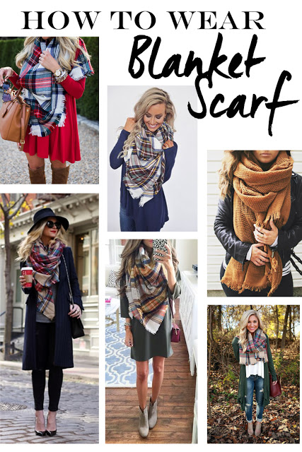 How to wear blanket scarves