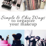 Chic ways to organize your makeup and declutter your counter