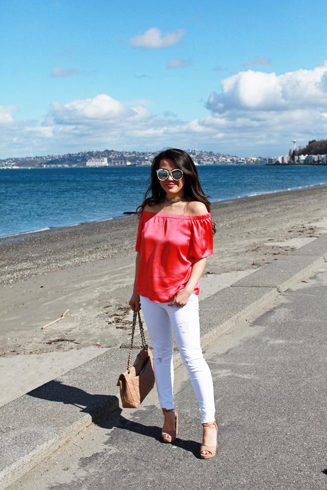 What to Wear with White Denim - www.iamstyle-ish.com
