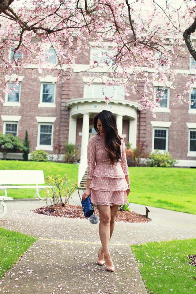 Pink Crochet Lace Dress - www.iamstyle-ish.com