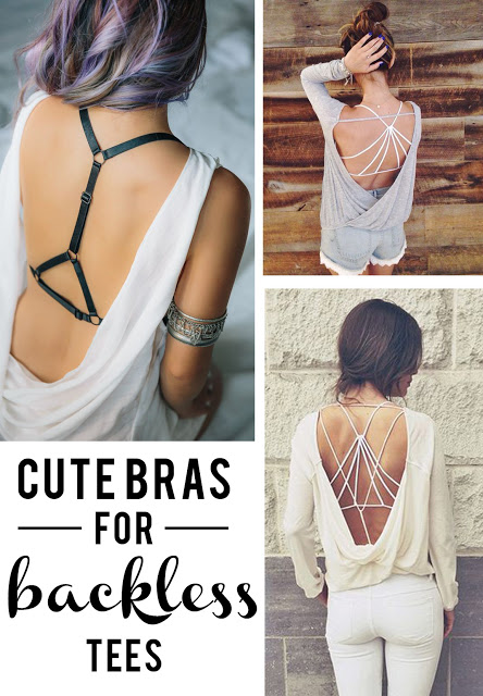 cute bras for backless tees