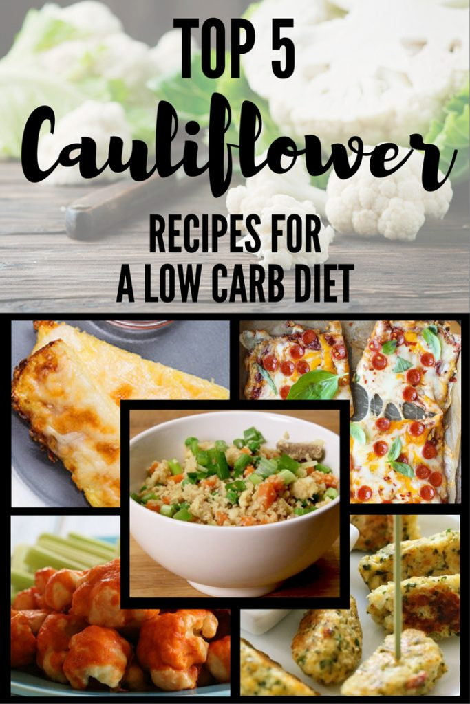 Cauliflower Pizza Crust + Top 5 Cauliflower Recipes for a Low Carb Diet
