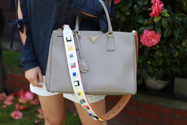 prada bag studded bag strap