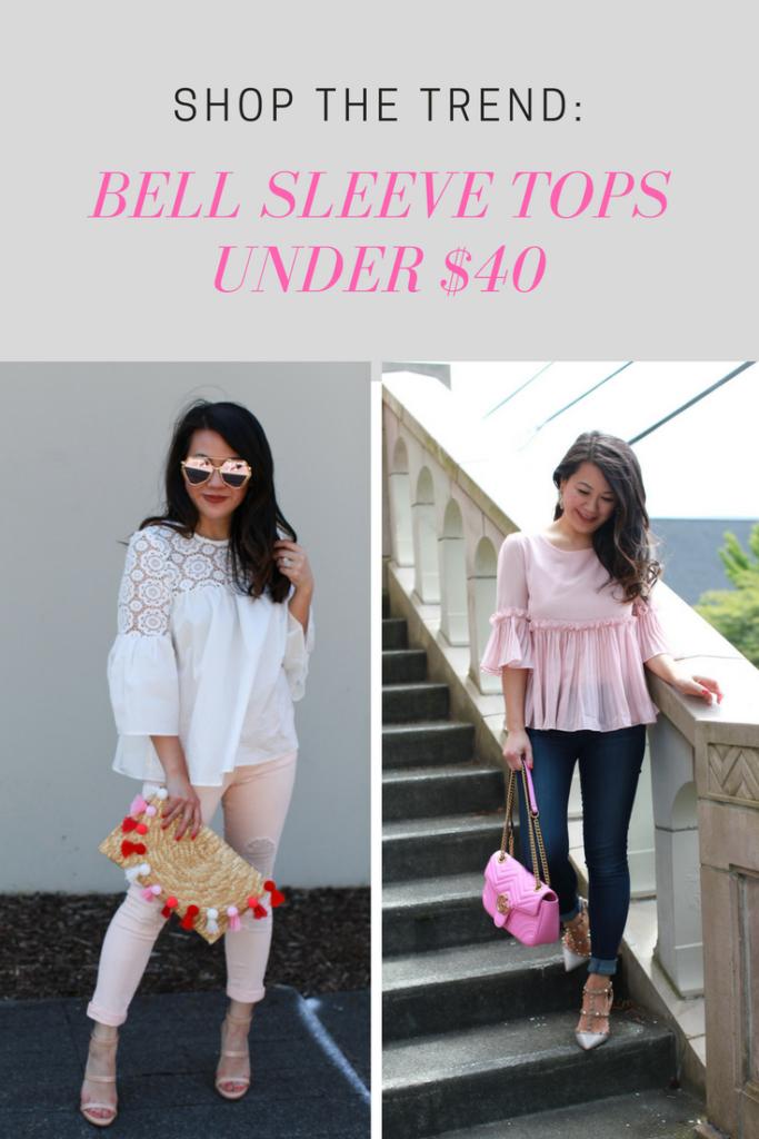 Bell Sleeve Tops under $40