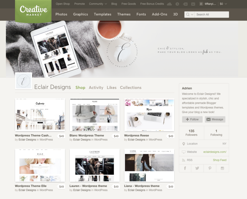 The best modern and chic wordpress themes for women entrepreneurs