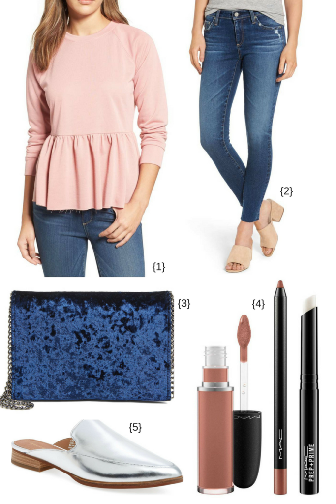 Cute casual sweatshirt and jeans outfit