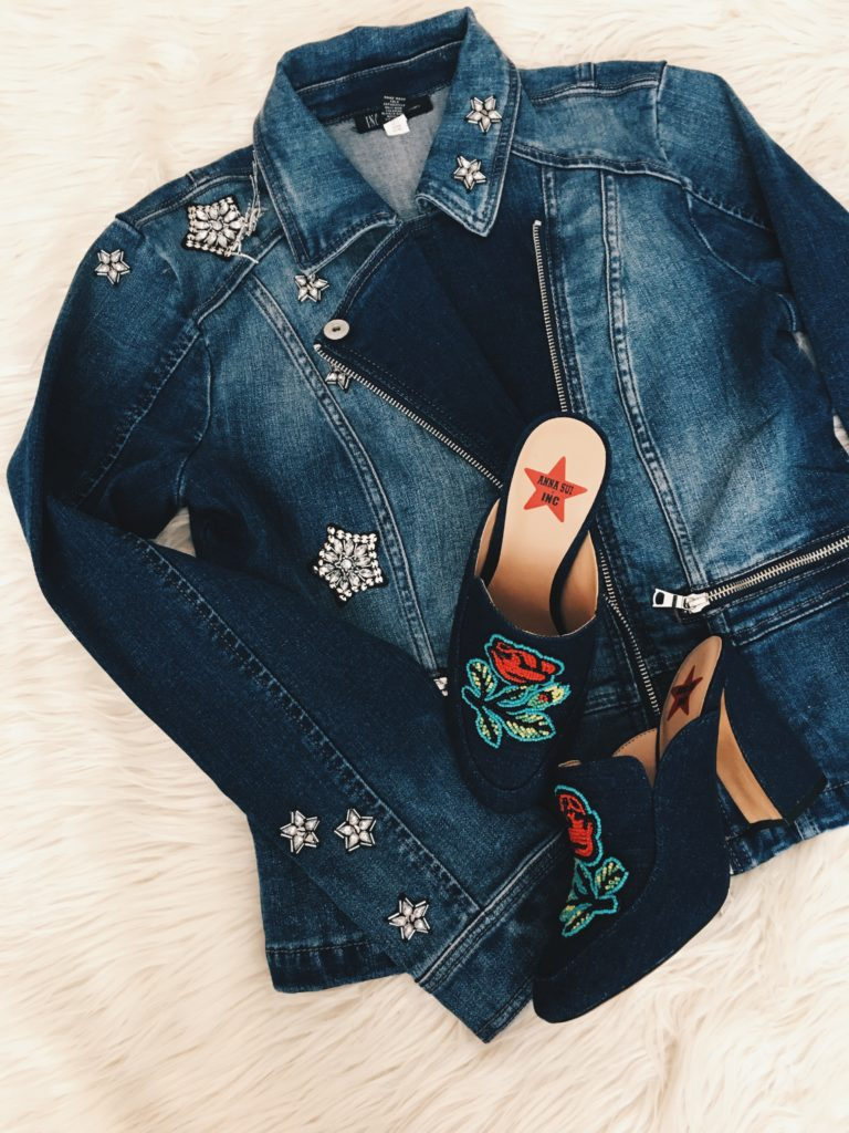 Anna Sui Denim jacket and Denim shoes