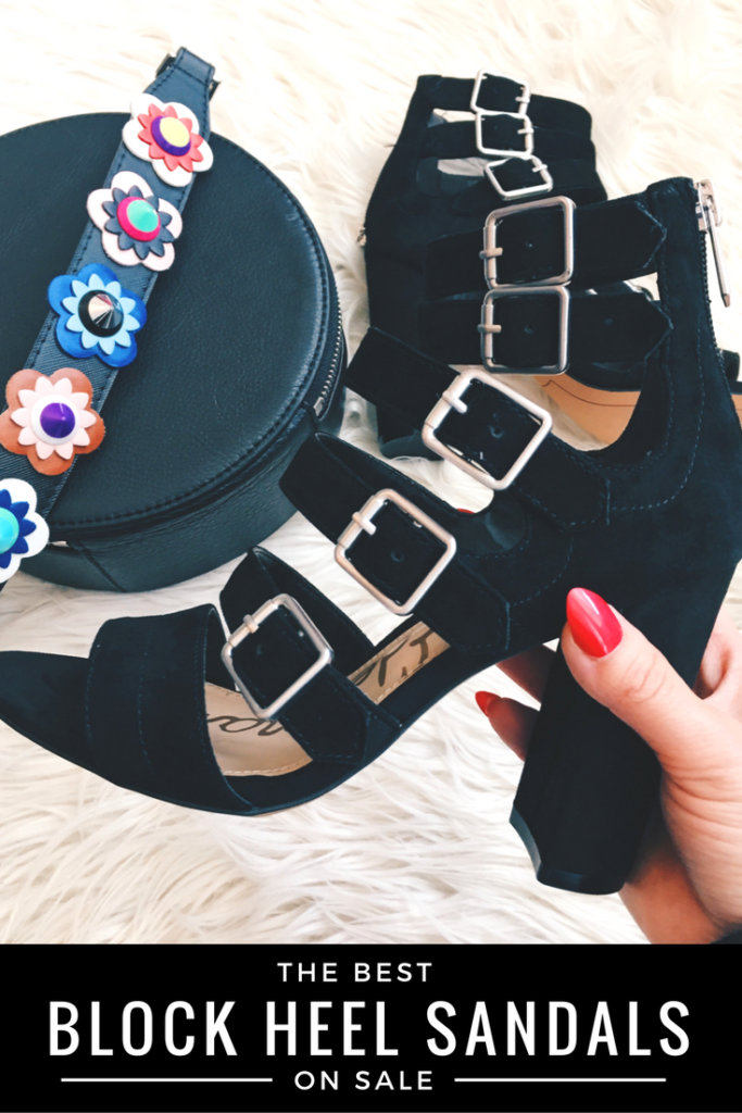 The cutest block heels on sale!