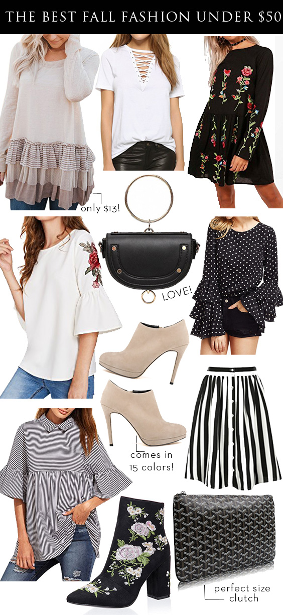 The best Fall Fashion pieces under $50