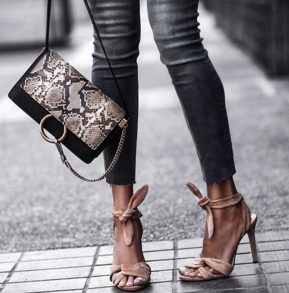 Suede Bow Sandals, Chloe Bag