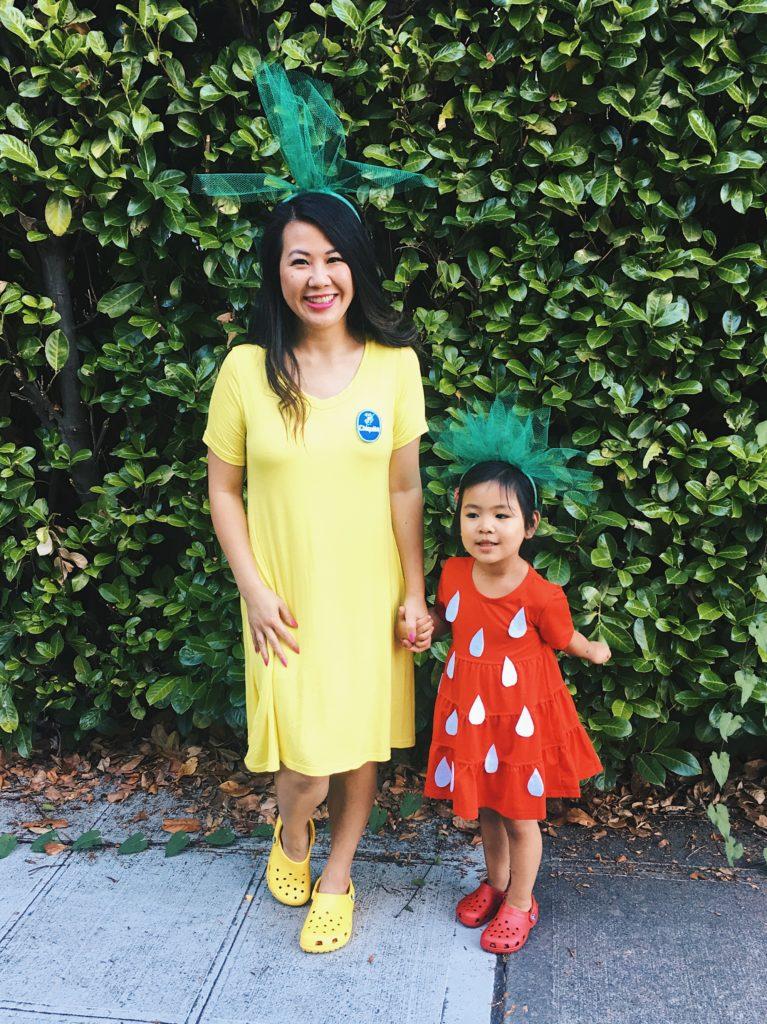 Diy Mommy Amp Me Strawberry And Banana Halloween Costume