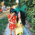 DIY Mommy & Me Strawberry and Banana Halloween Costume