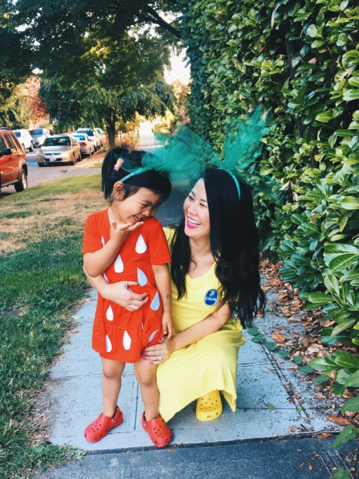 The easiest halloween costume for mommy and daughter!