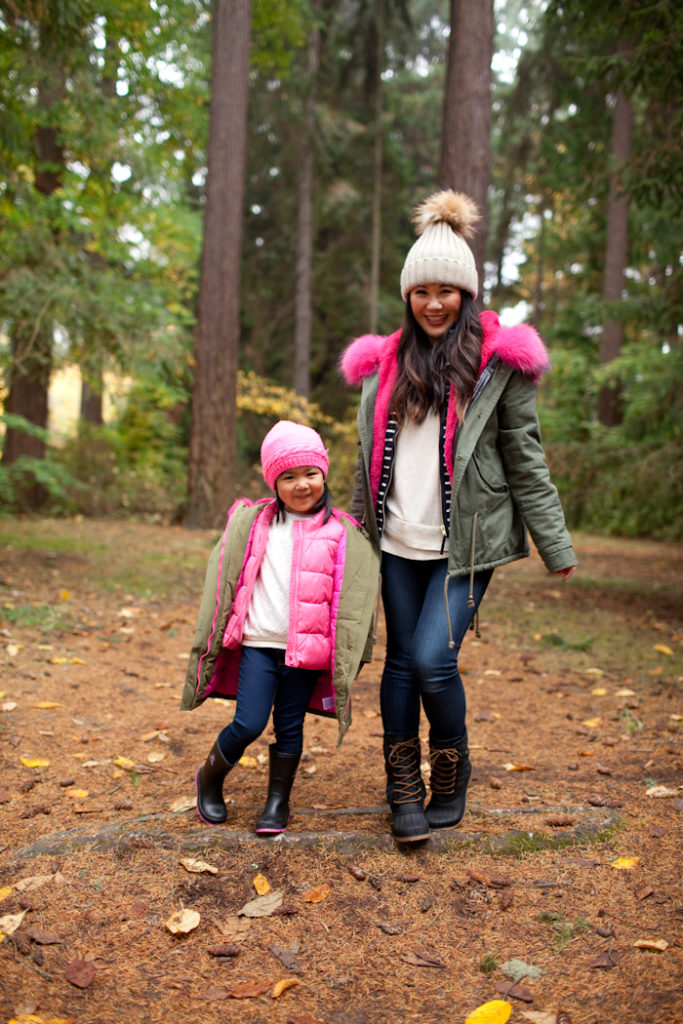 what to wear in the winter for mom and daughter