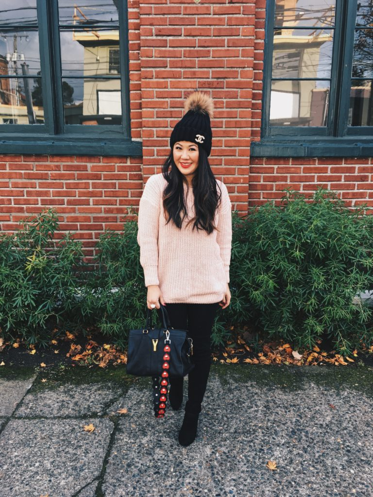 Petite style: what to wear with over the knee boots