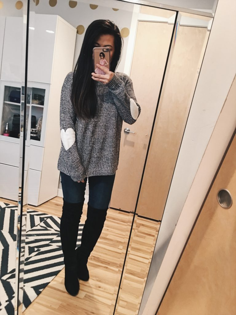817a98e96e Outfit Ideas  Sweaters (Under  30!) and Over the Knee Boots