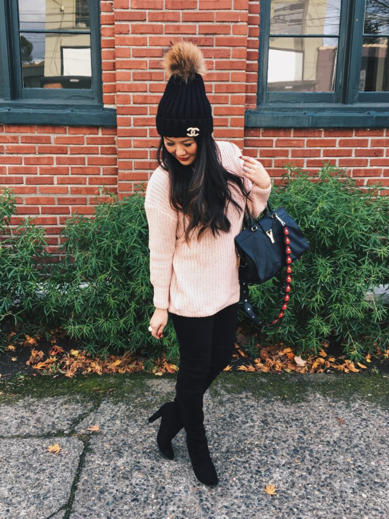 Outfit Ideas Sweaters Under 30 And Over The Knee Boots