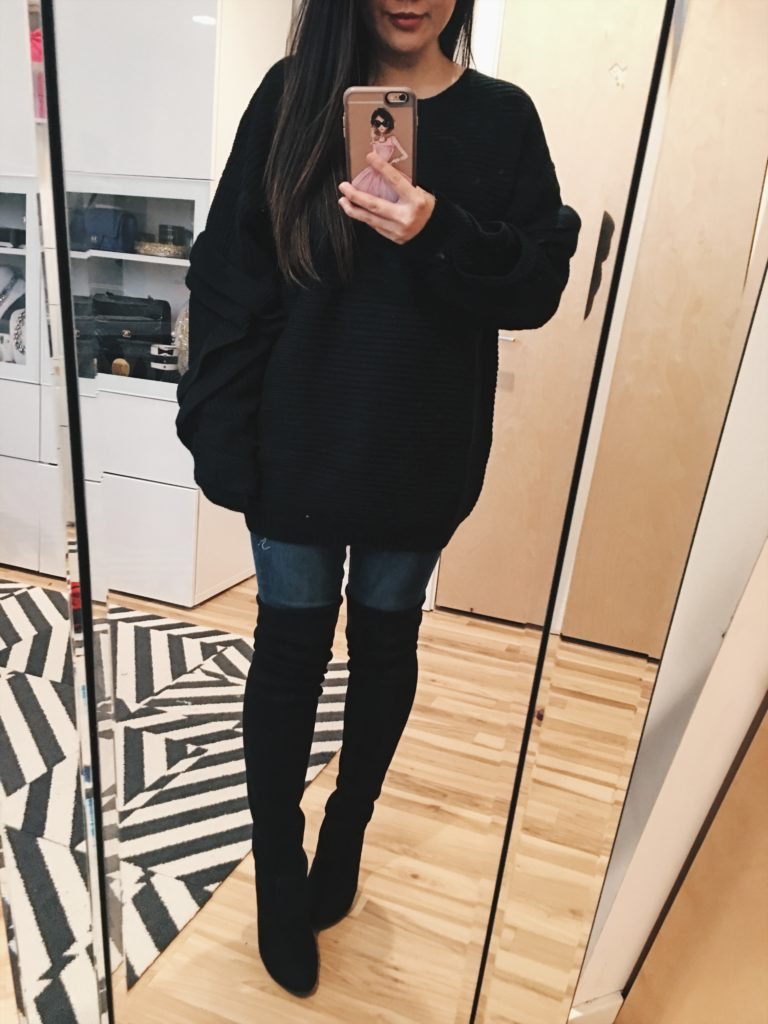 8c99f83e4189 Outfit Ideas  Sweaters (Under  30!) and Over the Knee Boots