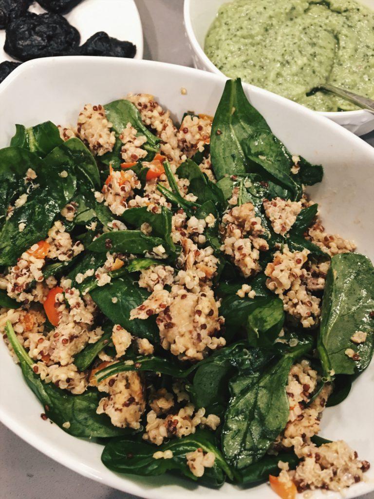 Healthy eats - salon quinoa bowl