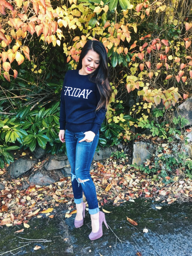 Friday Sweater - cute casual outfit ideas