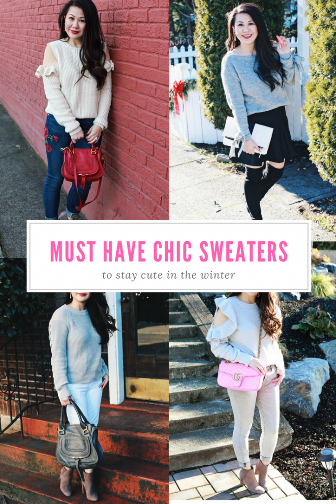 winter outfit ideas - chic sweaters
