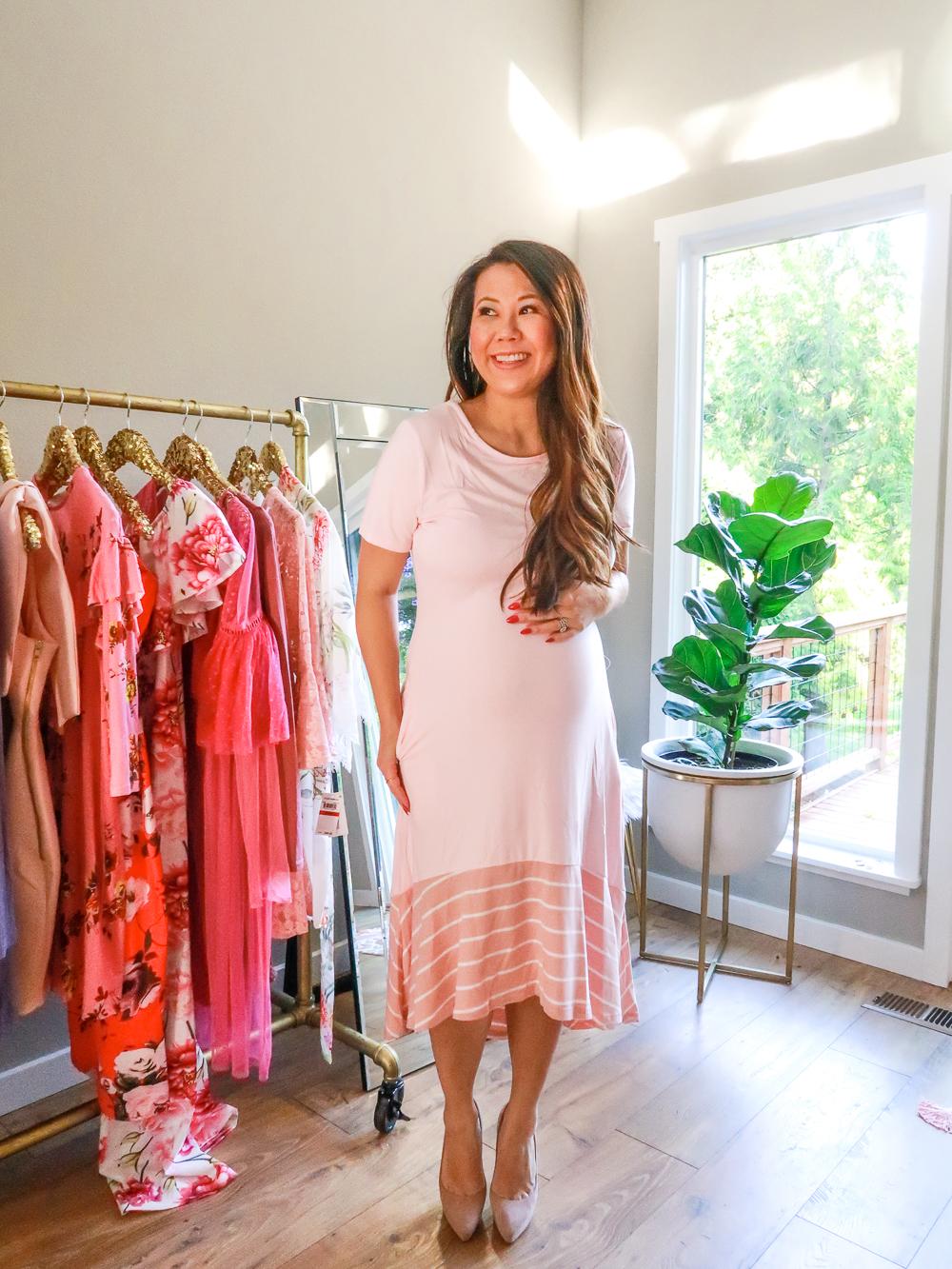 cf09b908d61 Amazon Dress – third trimester pregnancy fashion. Maternity Style