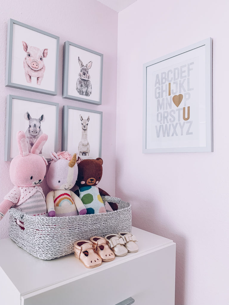 Nursery Reveal Pink And Gray Fl Decor