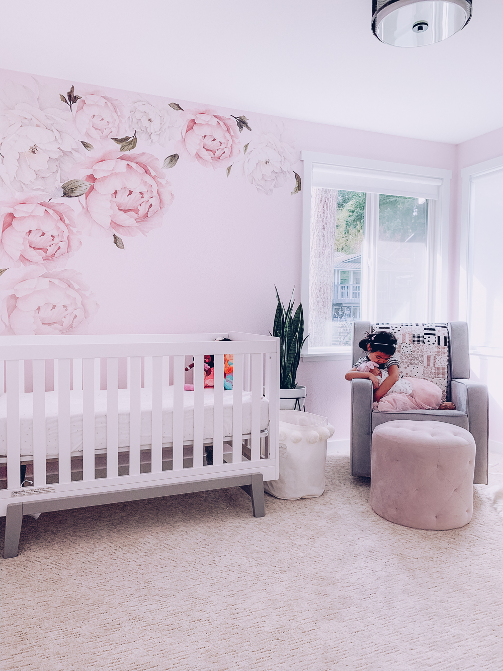 Nursery Reveal: Pink and gray floral nursery decor