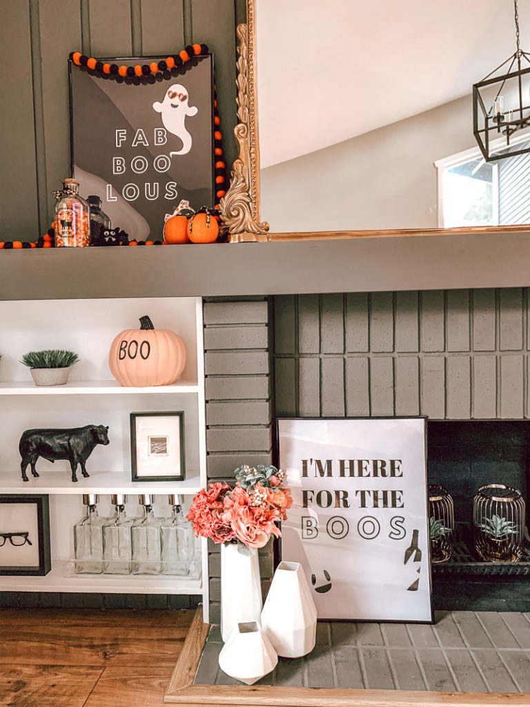 Easy DIY Halloween Home Decor FREE printable Halloween